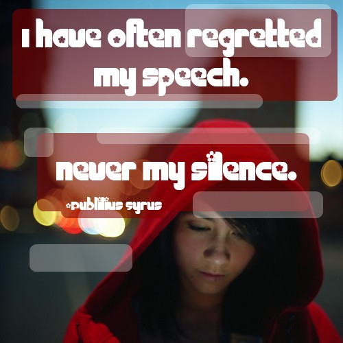 never my silence