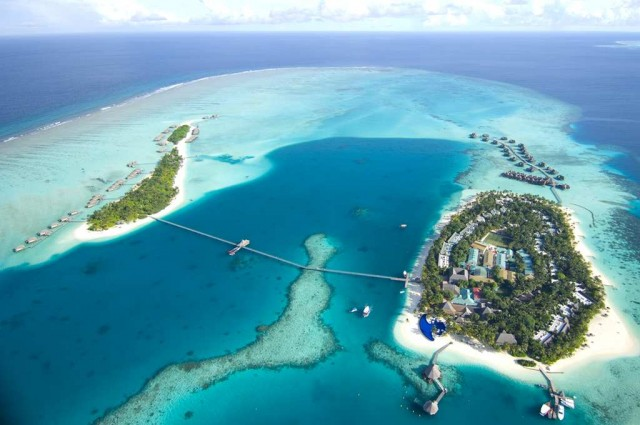 Aerial shot of our The Maldives